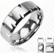 3633cecdf Steel Edge Titanový prsteň Spikes 3641