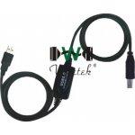 Wiretek kábel USB2.0 A-B 10m, aktivní