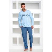 Taro Karol pánské pyžamo dl.rukáv modré