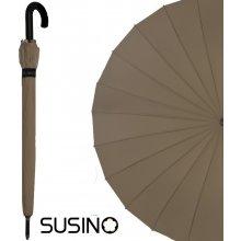 5567f91b9 Susino N1941-Brown Štýlový skladací dáždnik 24-rebrový kapučínový