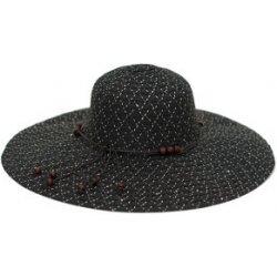 21f54bab4 Art of Polo Dámsky letný klobúk s korálkami čierny cz16115 .3 ...