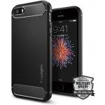 Púzdro Spigen Rugged Armor Apple iPhone 5/5S/SE čierne