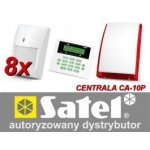 Alarm Satel CA-10 LCD 8xGraphite, sig. Ext. SP-4003