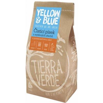 Yellow and blue Čistiaci piesok z prášku z mydlových orechov 1 kg