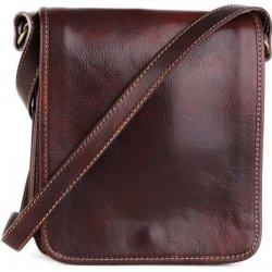 Talianske kožené kabelky pánske veľké čokoládové Pedro alternatívy ... 0398d039be