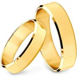 d7bec7722 iZlato Forever Zlaté svadobné obrúčky s fázovaným profilom, šírka 4 mm  SKOS004 od 416,00 € - Heureka.sk