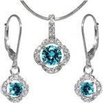 Sada strieborných šperkov s krištáľom JJJS2200