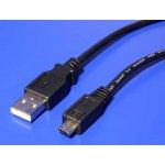 PremiumCord ku2m5f micro USB 2.0, A-B, 5m, černý