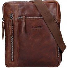 586796ef17 Lagen pánska kožená taška 22013 hnedá