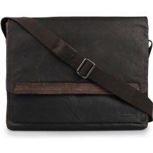 Strellson pánská kožená taška přes rameno Camden 4010002281 tmavě hnědá 8c3cd465898