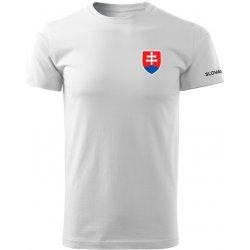 ee44677051c4 O T krátke tričko malý farebný slovenský znak biela 160g m2 od 9