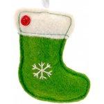 c558648da Ozdoba na vianočný stromček z filcu - čižma zelená