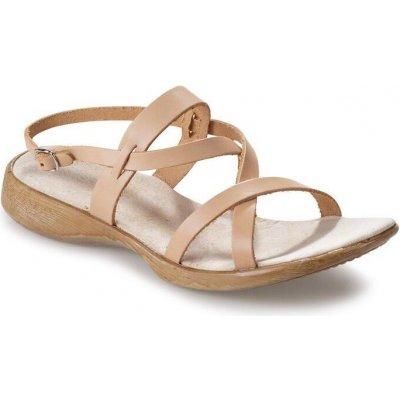 Dámske kožené vychádzkové sandále