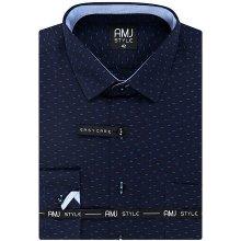 AMJ Style Pánská košile VDZ 1019 tm.modrá