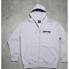 Thrasher Magazine Logo Zip Hood Grey