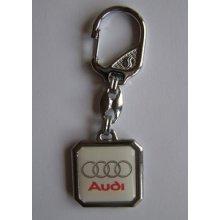 Prívesok na kľúče živicová Audi (biela) 800761d2b91