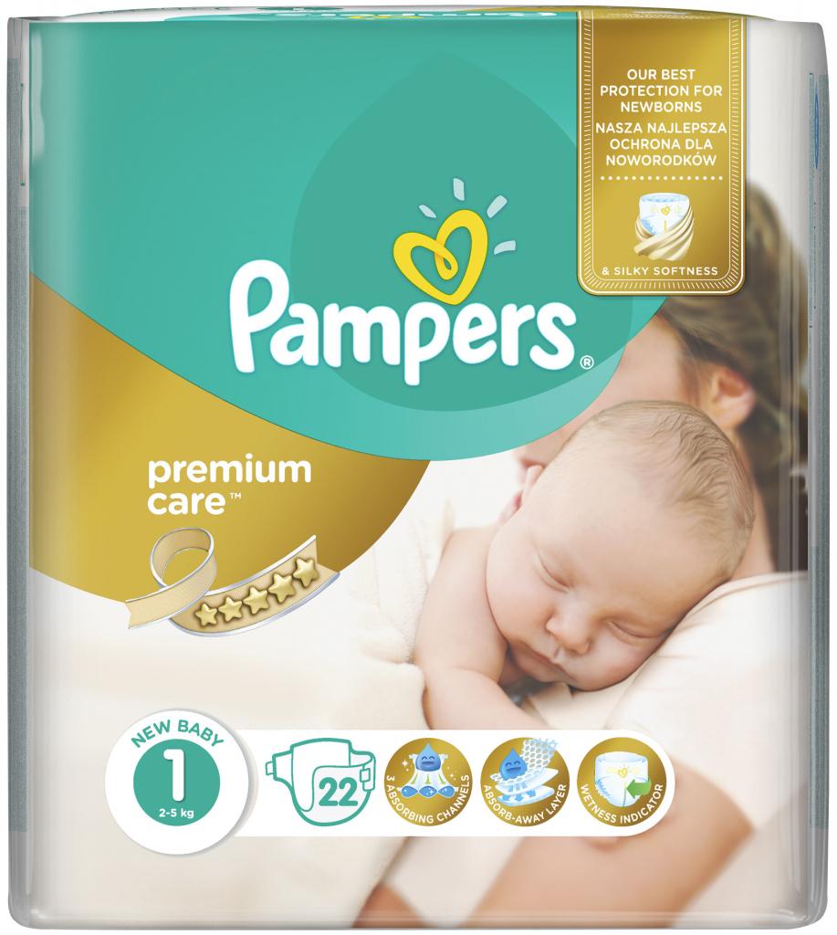 Pampers PremiumCare 1 Newborn 22 ks