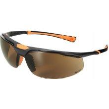 Univet 5X3, čierno-oranžový rám, hnedé sklá s povrchovou vrstvou proti poškriabaniu a zahmlievaniu, UV400