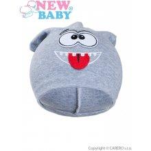 New Baby jesenná detská čiapočka smejko Sivá