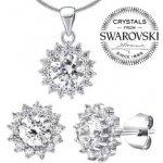 Silvego strieborná súprava šperkov so Swarovski Zirconia JJJS2488