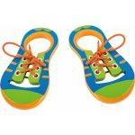Small foot Šnurovanie drevených topánok