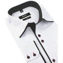 25b2d083d2a7 Bielo-čierna trendová košeľa VENERGI SLIM DR212 alternatívy - Heureka.sk