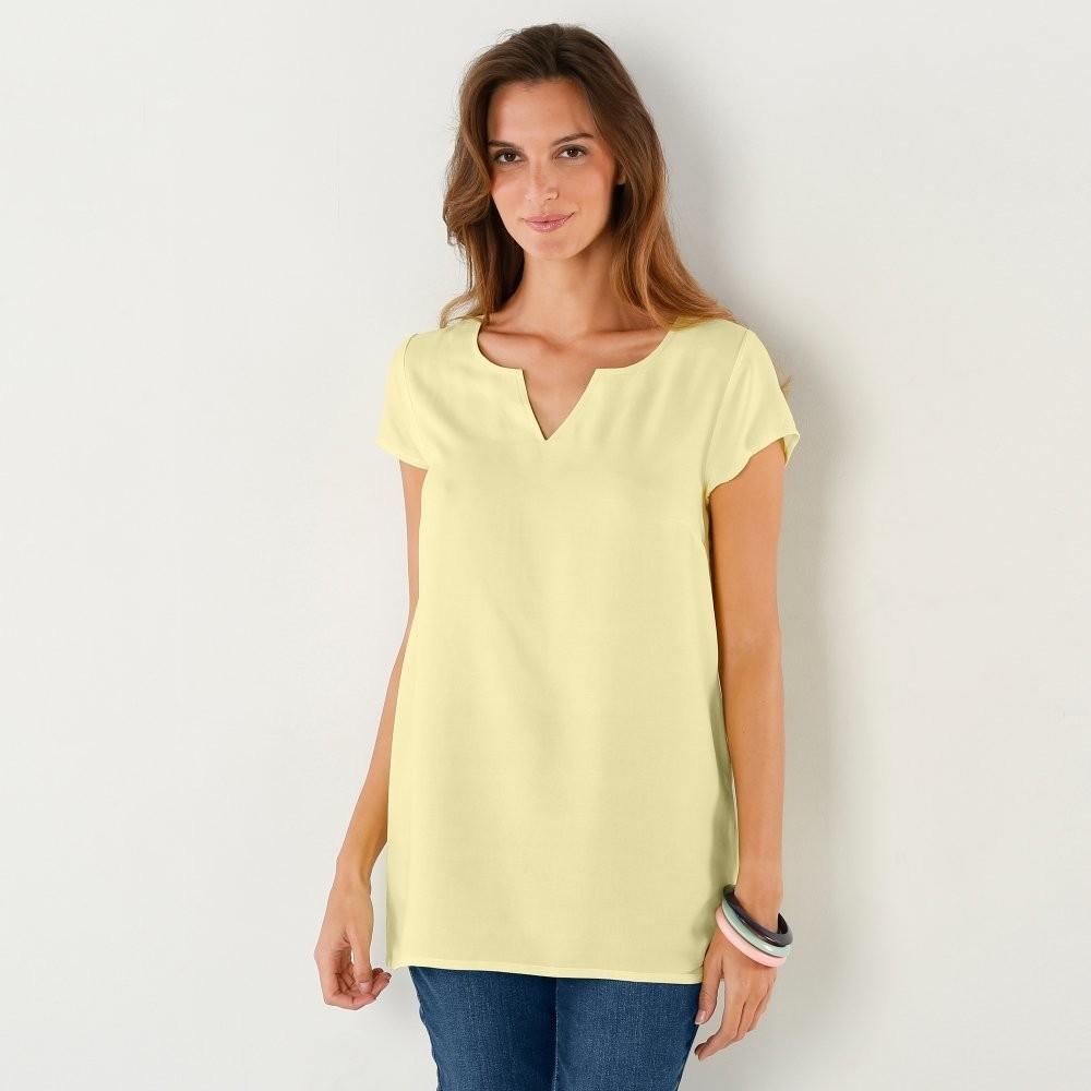 718c8da95387 Dámska blúzka a košeľa Jednofarebná blúzka žltá - Zoznamtovaru.sk