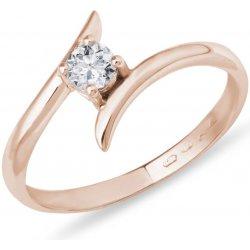 KLENOTA Zásnubný prsteň z ružového zlata s diamantom k0346014 od 636 ... fe109f4f25f