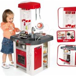 SMOBY 311003 elektronicka kuchynka TEFAL STUDIO červeno-biela so sódovkou a opečenými potravinami zvuková + 27 doplnkov