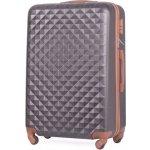 87308bee4f4a7 Solier Cestovný kufor - geometric, veľký, plastový, tmavošedý