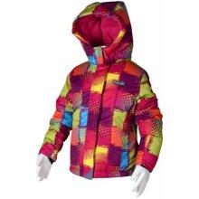 Bugga dievčenská lyžiarska bunda farebná