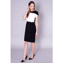 cb4152b89313 Click Fashion Dámské šaty 60-064 černo bílá