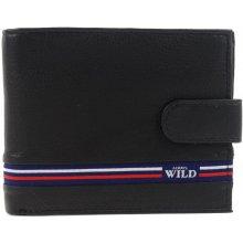 1e5c53ca4 Wild Čierna pánska kožená peňaženka