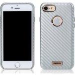 Púzdro REMAX Carbon series iPhone 7 / 8 strieborné