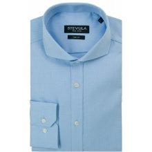 STEVULA Svetlomodrá kockovaná pánska košeľa