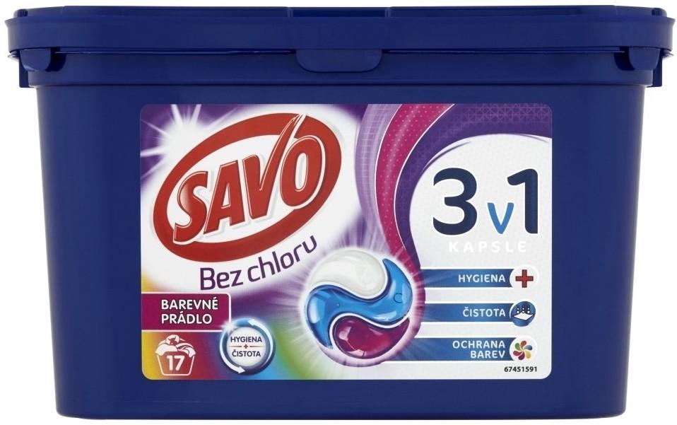 21b584626 Pridať používateľskú recenziu Savo Bez chlóru na farebné oblečenie gélové  kapsuly na pranie 17 praní 459 g - Heureka.sk