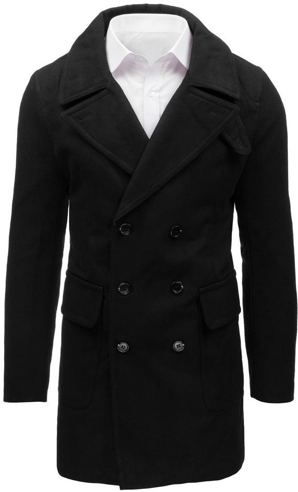 Pánska bunda Pánsky čierny zimný kabát cx0361 - Zoznamtovaru.sk 11b44c25723
