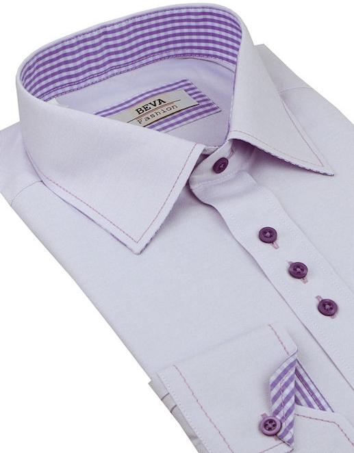 b6ba11cea7c0 Pánska košeľa Beva Fashion Fialová košeľa (slim) - Zoznamtovaru.sk