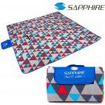 Pikniková deka Sapphire 200 x 200 cm trojkaty