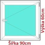 Soft Plastové okno 90x60 cm, otváravé