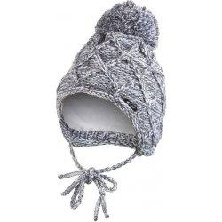 589d920fe Little Angel čiapka pletená zaväzovacia KÁRO šedý melír alternatívy ...