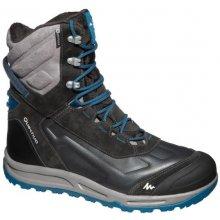 QUECHUA Pánska vysoká hrejivá obuv SH920 na zimnú turistiku X-warm modrá c4e10578873