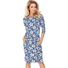 73975e74a Športové dámske šaty Gladys, Blue Jeans Flowers (13-62)