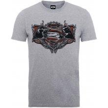 ROCK FF Pánske tričko BATMAN VS SUPERMAN GOTHIC LOGO sivá 2e1c4c99ee