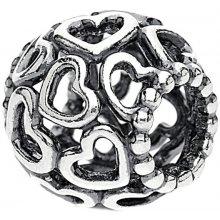 Pandora Stříbrný srdíčkový korálek 790964