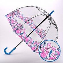 Fulton dámský průhledný holový deštník Birdcage 2 BLOSSOM BIRD L042