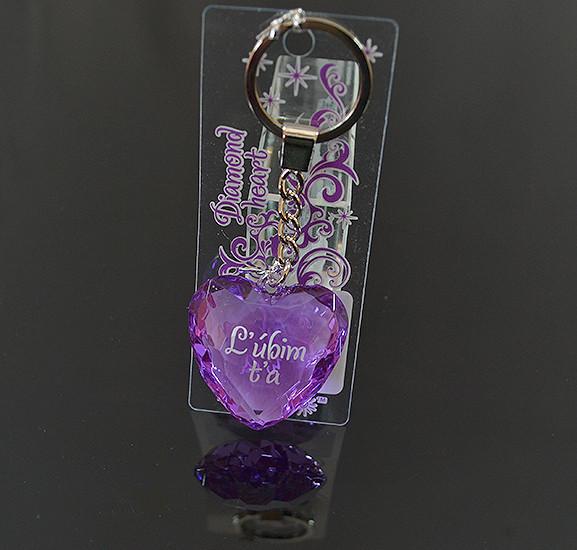 Prívesok na kľúče Diamond Heart Ľúbim ťa alternatívy - Heureka.sk 19af3e72a61