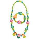 Souprava náhrdelník a náramek Květiny s lístky