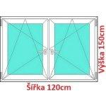 Soft Dvojkrídlové plastové okno 120x150 cm, OS+OS, so stĺpikom
