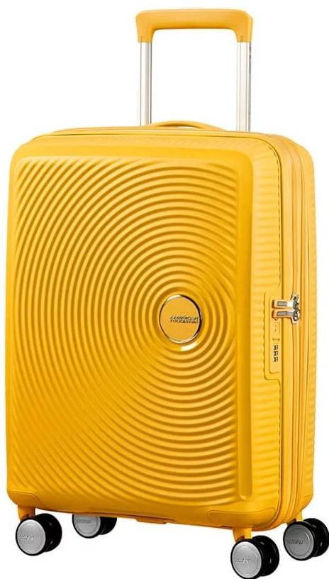 f8a21570b36eb American Tourister Kabinový Soundbox Spinner EXP 32G 35,5/41 l - golden  yellow